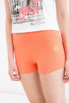 Maui and Sons stretch cotton shorts, Orange, hi-res
