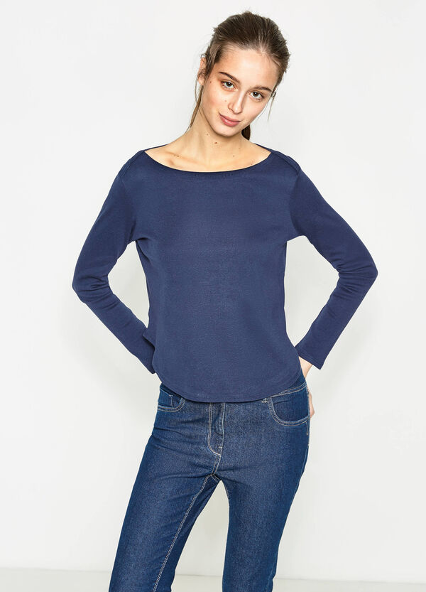 100% cotton T-shirt with rounded hem | OVS