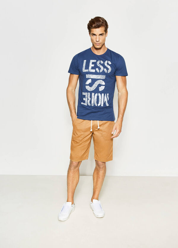 T-shirt with printed lettering   OVS