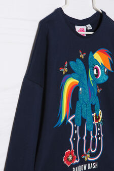 My Little Pony stretch cotton T-shirt, Navy Blue, hi-res