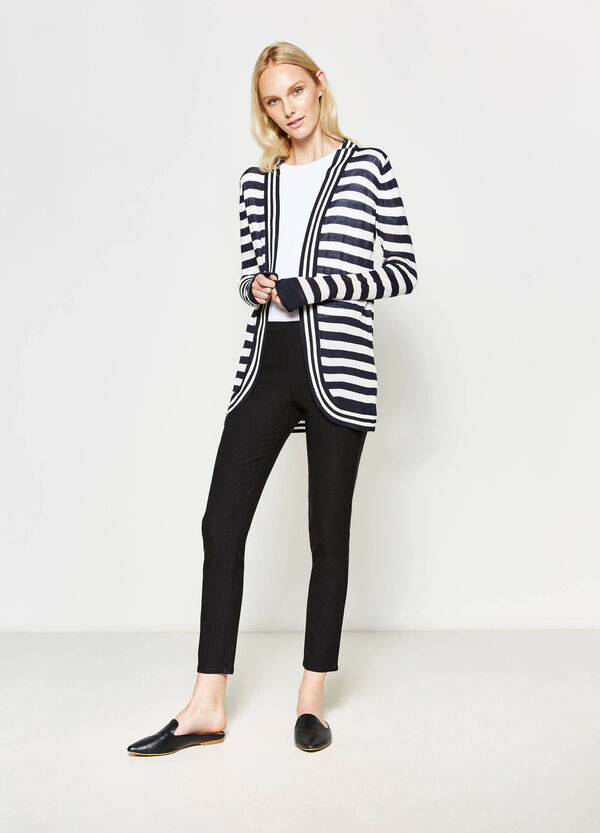 Striped open cardigan | OVS