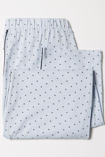 Curvy cotton pyjama trousers, Lilac, hi-res