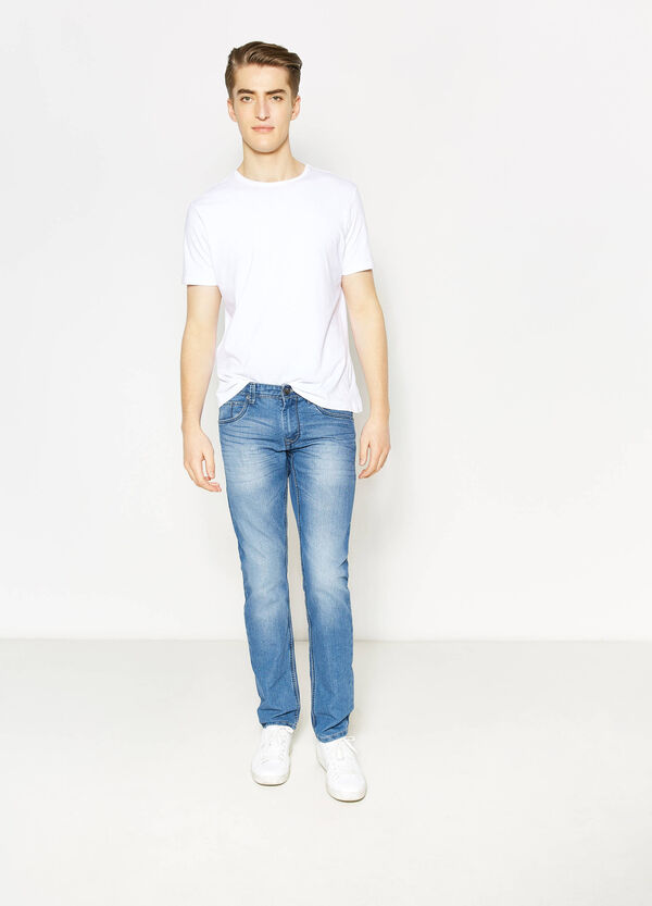 Jeans straight fit stretch con baffature | OVS