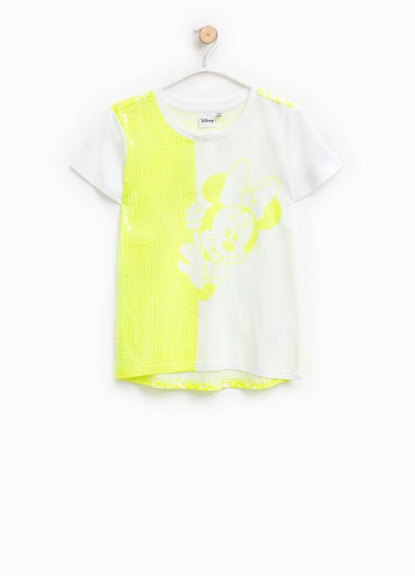 T-shirt stampa Minnie e paillettes   OVS