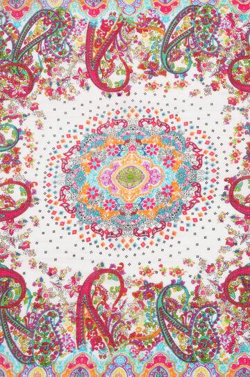 Printed scarf in 100% cotton, Multicolour, hi-res