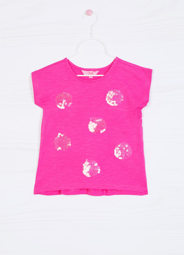 Sequinned T-shirt in 100% cotton | OVS