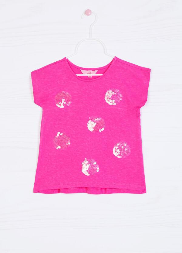 T-shirt puro cotone con paillettes | OVS