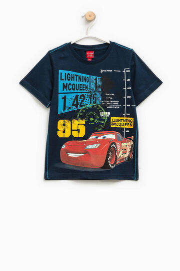 T-shirt con maxi stampa Cars, Blu scuro, hi-res