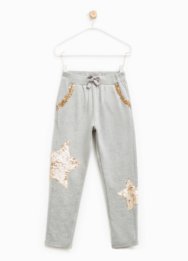 Trousers with drawstring and sequins | OVS