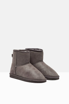 Ankle boots with faux fur inner, Grey, hi-res