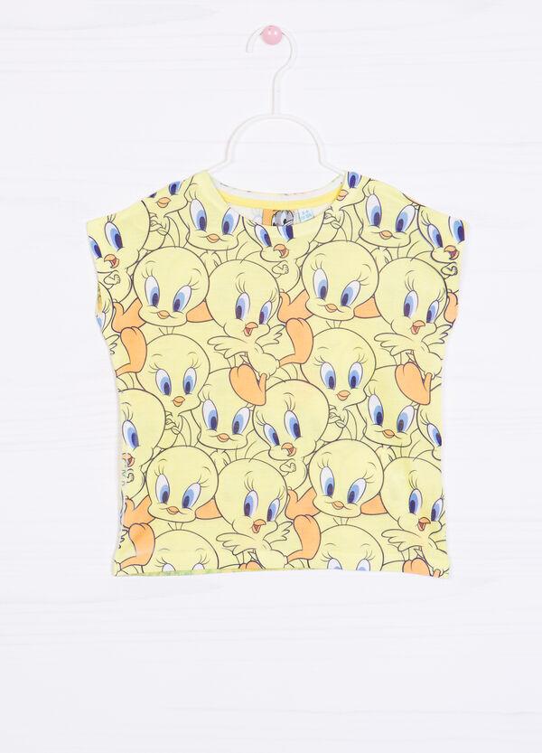 T-shirt smanicata stampa Titti | OVS