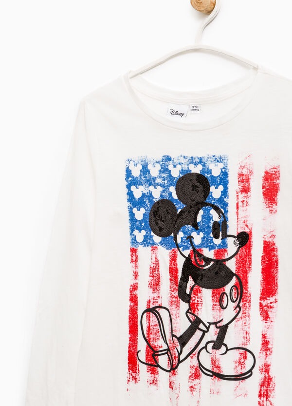 T-shirt cotone stampa Mickey Mouse | OVS