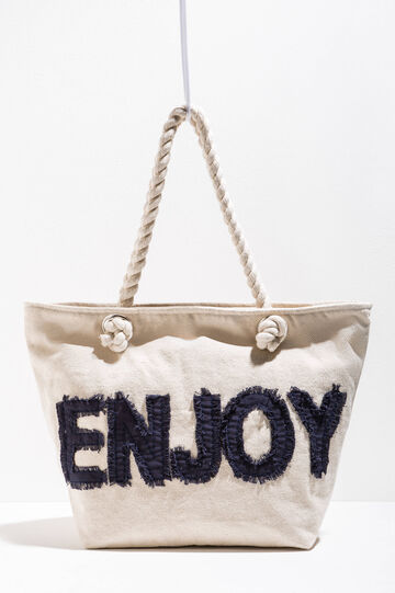 Cotton beach bag with patch