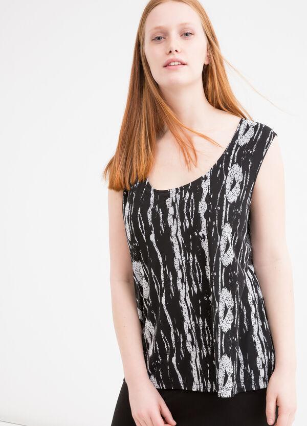 Curvy viscose sleeveless dress | OVS