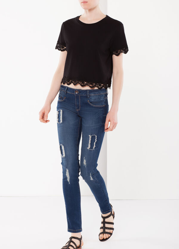 Heavily distressed jeans | OVS