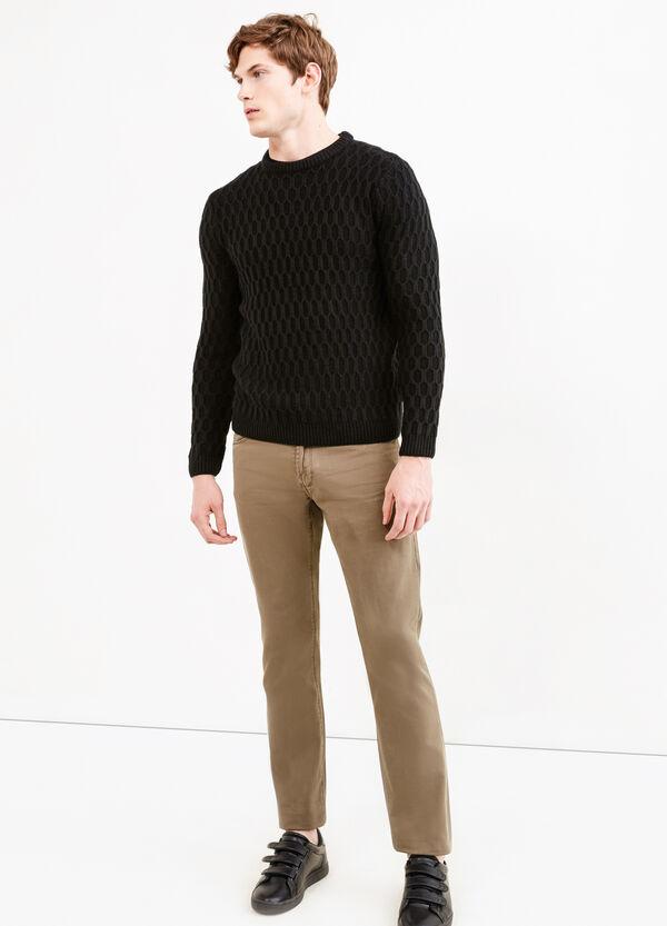 Pantalón con 5 bolsillos en algodón 100%   OVS