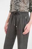 Pantaloni fantasia con coulisse, Nero/Bianco, hi-res