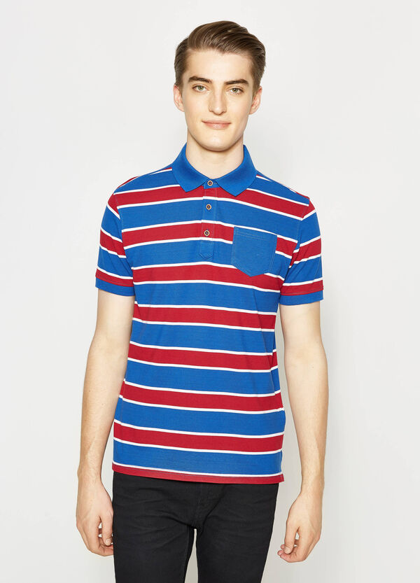 Striped polo shirt with small pocket   OVS