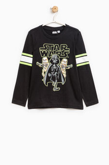 Star Wars print 100% cotton T-shirt, Black, hi-res