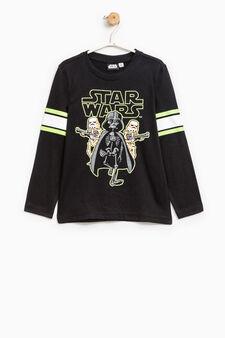 T-shirt puro cotone stampa Star Wars, Nero, hi-res