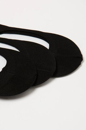 Three-pair pack shoe liners, Black, hi-res