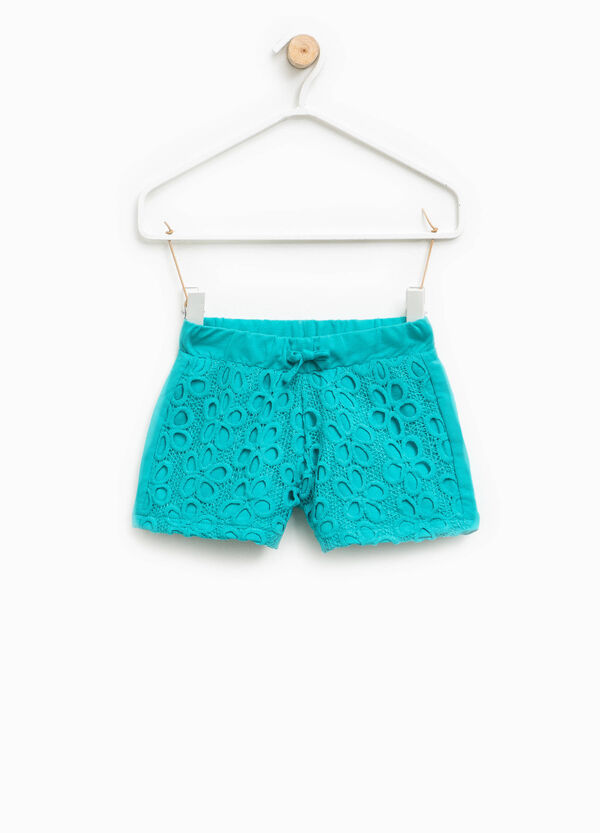 Shorts with floral openwork design | OVS