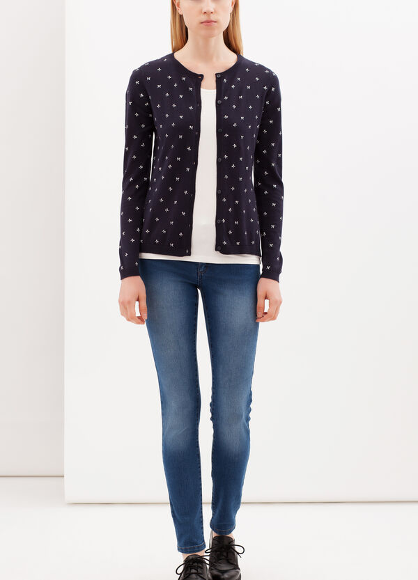Cardigan con stampa all over | OVS