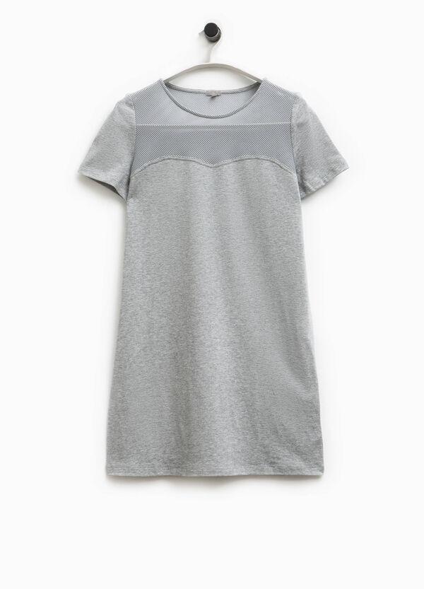 Smart Basic cotton dress with mesh | OVS