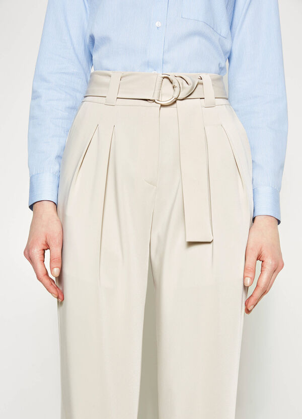High-waisted stretch trousers | OVS