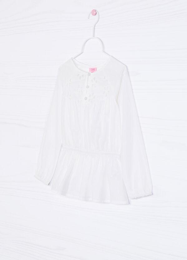 Openwork shirt in cotton blend | OVS
