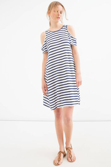 100% viscose crew neck dress