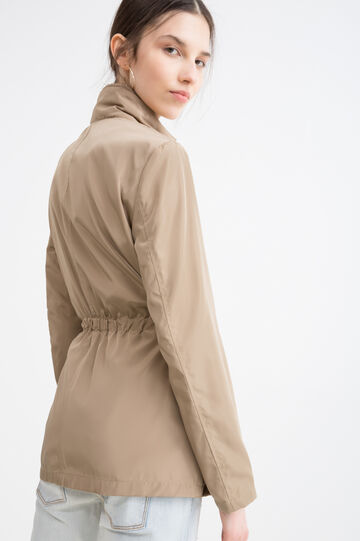 Giacca a vento coulisse in vita, Beige, hi-res