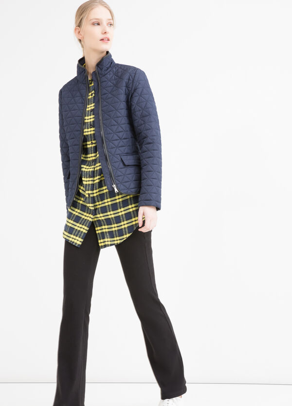 Quilted jacket with high neck | OVS