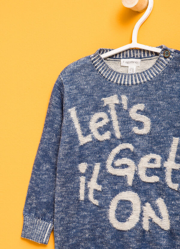 Cotton pullover with lettering embroidery | OVS