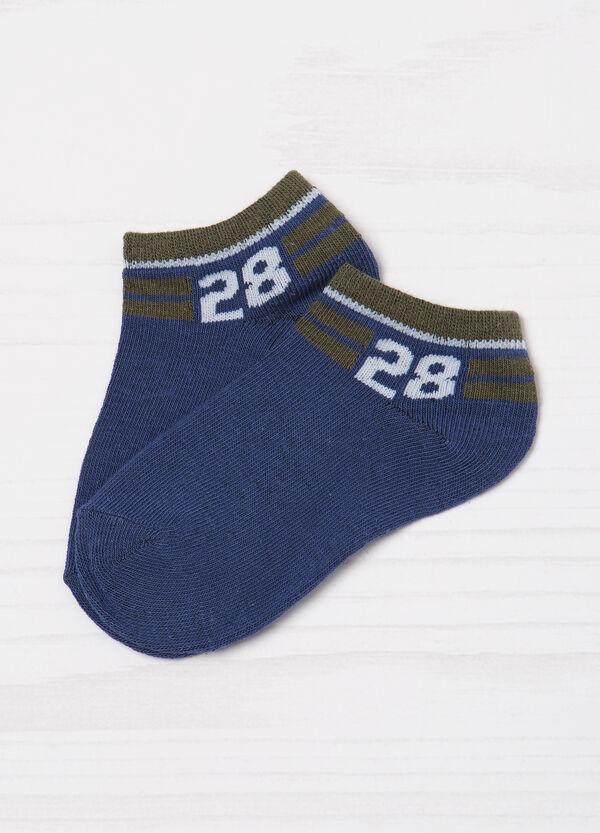 Set due paia di calze corte fantasia | OVS