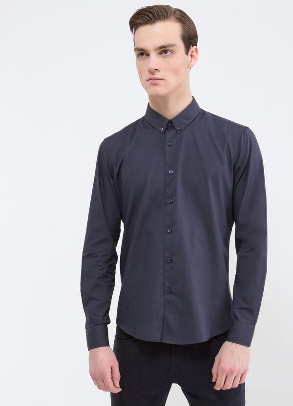 Camicia tinta unita misto cotone   OVS