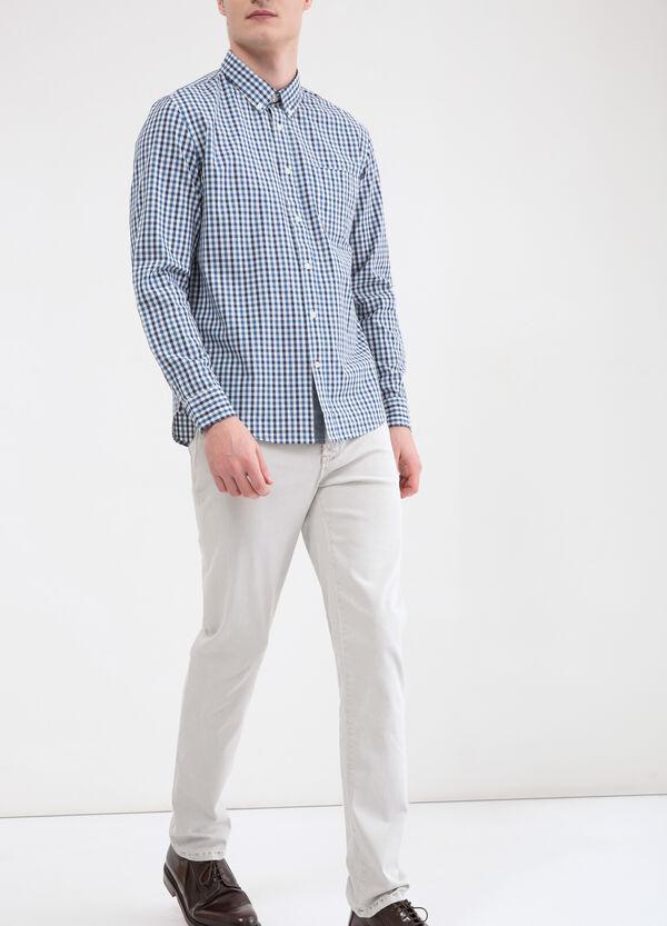 Cotton check shirt with pocket | OVS