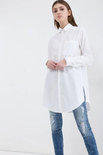Camicia puro cotone, Bianco, hi-res