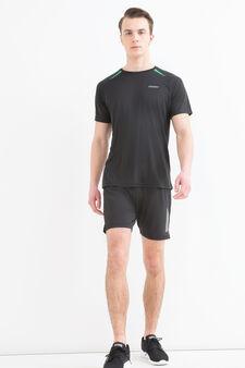 T-shirt sportiva con scollo rotondo, Nero, hi-res