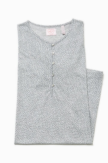 Polka dot patterned nightshirt