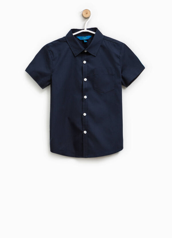 Cotton shirt with short sleeves   OVS