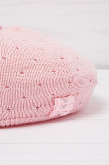 Diamanté beret in cotton