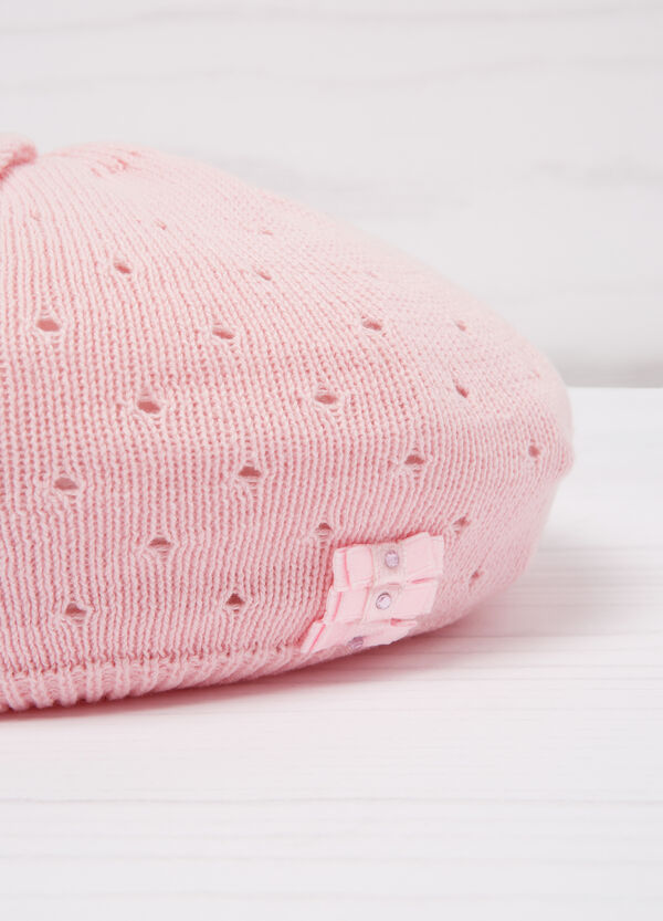 Diamanté beret in cotton | OVS