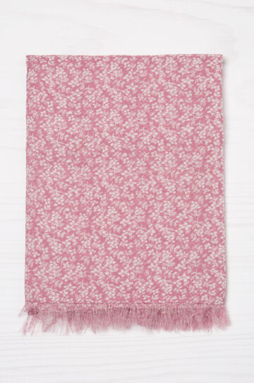 Flower patterned scarf