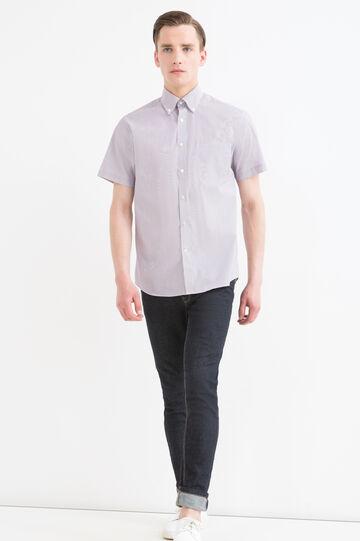 Camicia regular fit fantasia quadri, Rosso bordeaux, hi-res