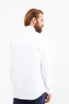 Solid colour regular fit formal shirt, White, hi-res
