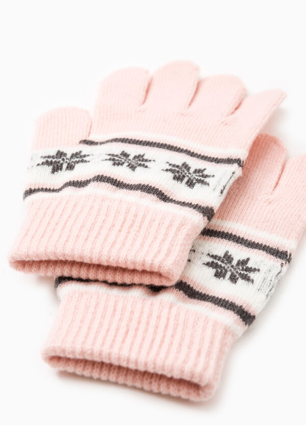 Solid colour gloves with embroidery | OVS