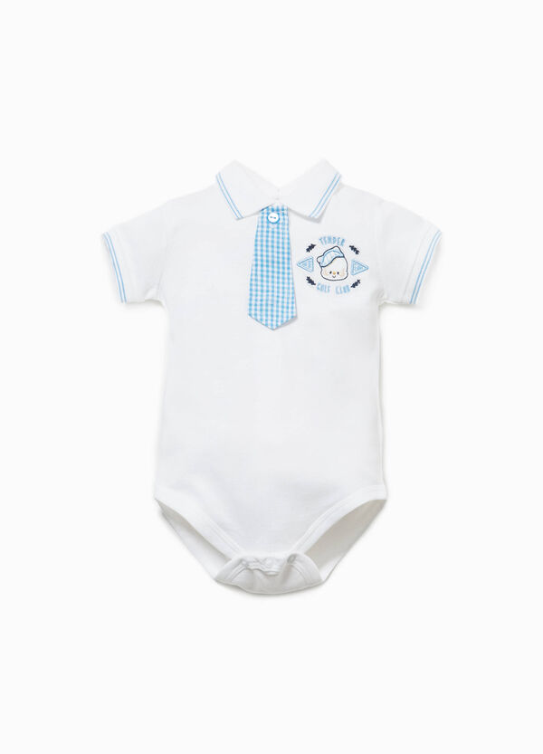 Bodysuit with micro check tie | OVS