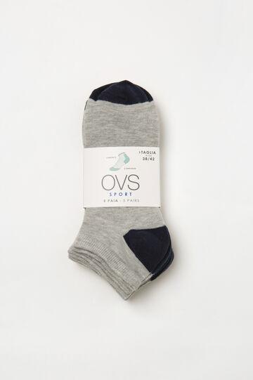 Set cinque calze corte stretch