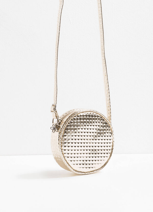 Round shoulder bag with diamond weave | OVS